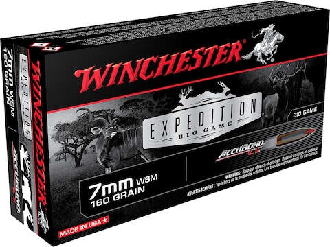 Winchester Expedition Ammunition 7mm Winchester Short Magnum (WSM) 160 Grain Nosler Acc...
