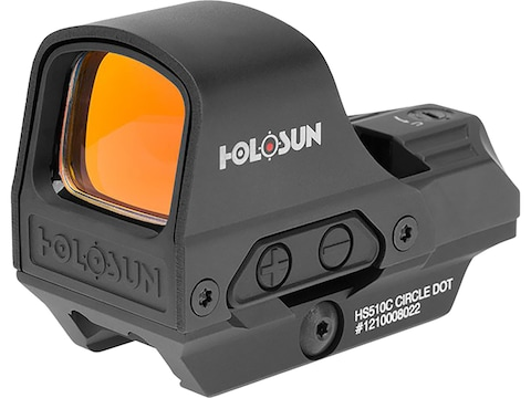 Holosun HS510C Reflex Sight 1x Selectable Reticle Quick-Release Mount Solar/Battery Pow...