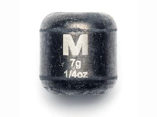 Mustad Carolina Weight 1/4oz Tungsten Black 3Pk