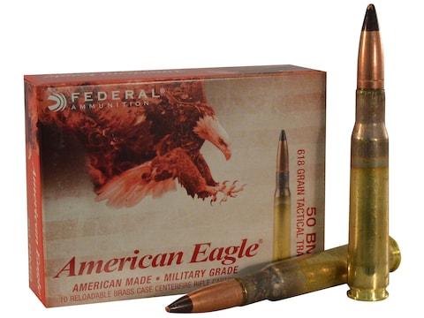 Federal American Eagle Tactical Tracer Ammunition 50 BMG 618 Grain M17 Full Metal Jacket