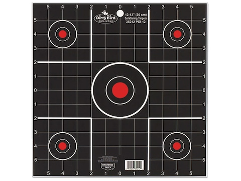 """Birchwood Casey Dirty Bird 12"""" Sight-In Targets Package of 12"""