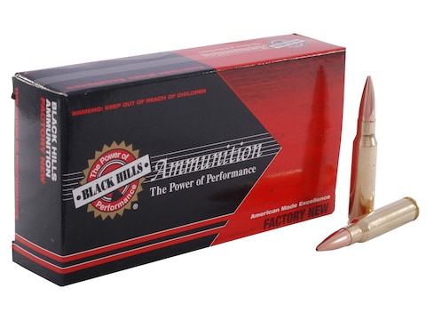 Black Hills Ammunition 308 Winchester 168 Grain Match Hollow Point Boat Tail Box of 20