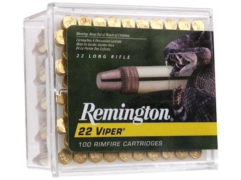 Remington Viper Hyper Velocity Ammunition 22 Long Rifle 36 Grain Plated Truncated Cone ...