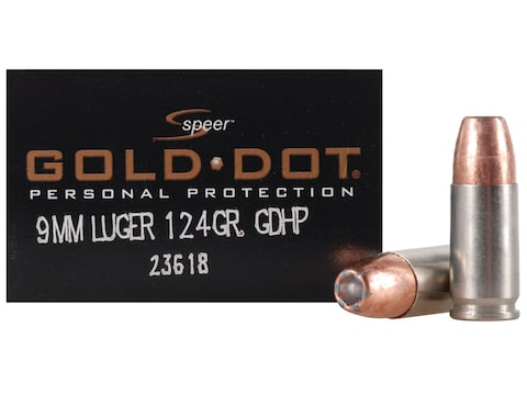 Speer Gold Dot Ammunition 9mm Luger 124 Grain Jacketed Hollow Point Case of 200 (10 Box...