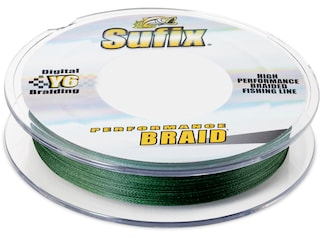 Sufix Performance Braided Fishing Line 6lb 300yd Low-Vis Green