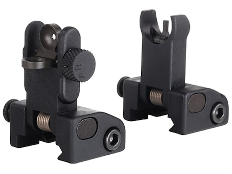 Yankee Hill Machine QDS Quick Deploy Flip-Up Front and Rear Sight Set Hooded AR-15 Flat...