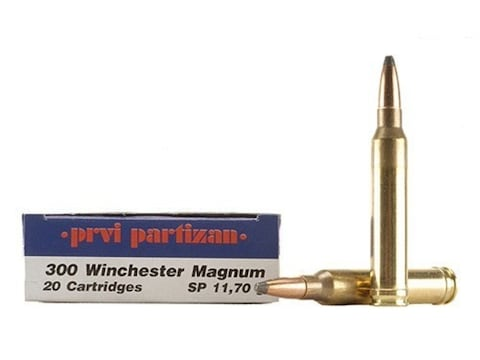 Prvi Partizan Ammunition 300 Winchester Magnum 180 Grain Soft Point Box of 20