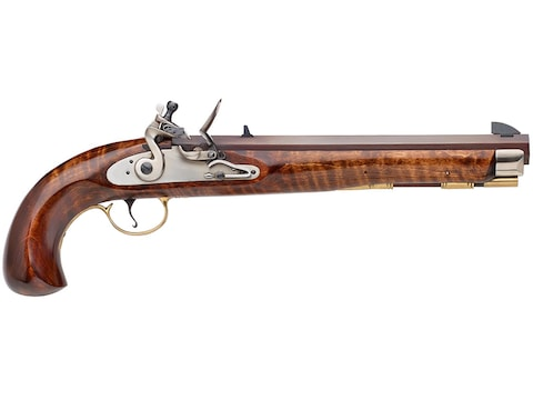 "Pedersoli Kentucky Maple Muzzleloading Pistol Flintlock 10"" Blued Barrel Maple Stock"