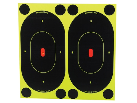 """Birchwood Casey Shoot-N-C Targets 7"""" Silhouette Pack of 60 with 240 Pasters"""