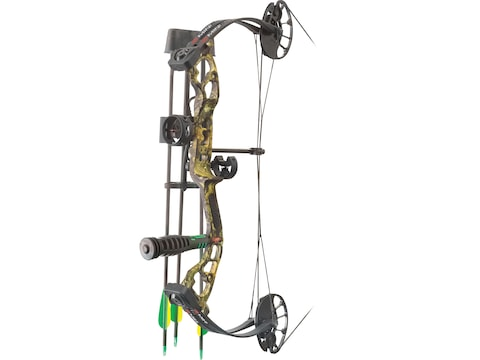 """PSE Mini Burner RTS Compound Bow Package Right Hand 29-40 lb 16""""-26.5"""" Draw Length Moss..."""