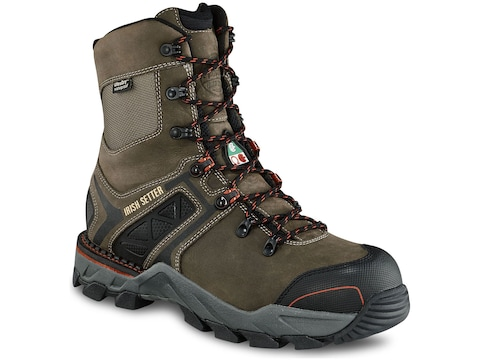 """Irish Setter Crosby 8"""" Puncture-Resistant Non-Metallic Safety Toe Work Boots Men's"""