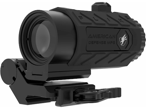 American Defense FLIK Magnifier with ADM Transition Picatinny-Style Mount Matte