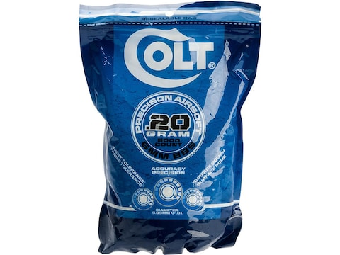 Colt Pro 6mm Airsoft BB .20 Gram White Pack of 5,000
