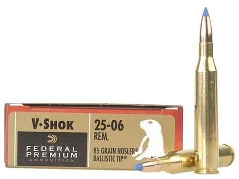 Federal Factory Second Varmint Ammunition 25-06 Remington 85 Grain Nosler Ballistic Tip...