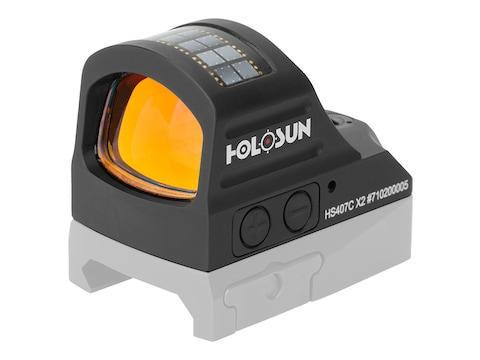 Holosun HS407C-X2 Reflex Sight 1x 2 MOA Red Dot Solar/Battery Powered Matte