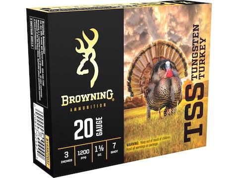"""Browning TSS Turkey Ammunition 20 Gauge 3"""" 1-1/2 oz Non-Toxic Tungsten Shot"""