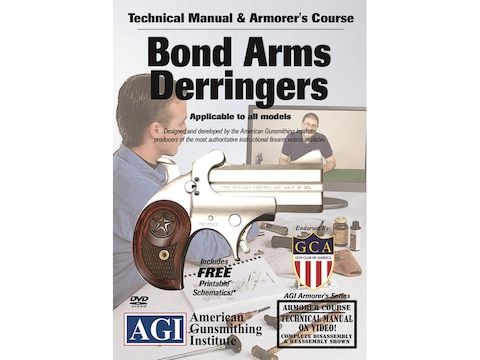 "American Gunsmithing Institute (AGI) Technical Manual & Armorer's Course Video ""Bond-ar..."