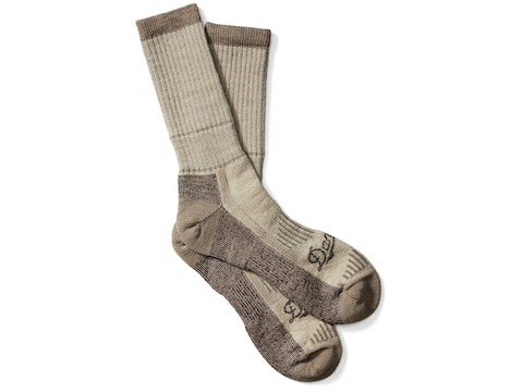 Danner Men's Midweight Crew Hunting Socks Merino Wool/Nylon Brown Heather