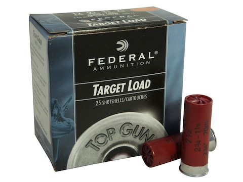 "Federal Top Gun Lite Ammunition 12 Gauge 2-3/4"" 1-1/8 oz #7-1/2 Shot"