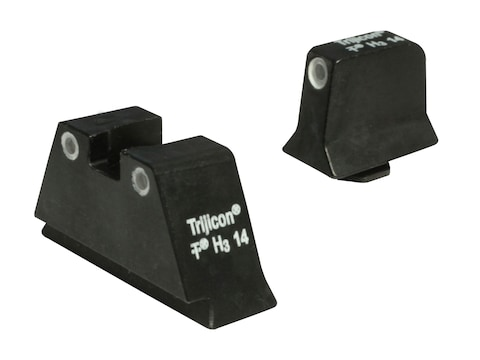 Trijicon Bright & Tough Suppressor Night Sight Set Glock Large Frame 3-Dot Tritium Gree...