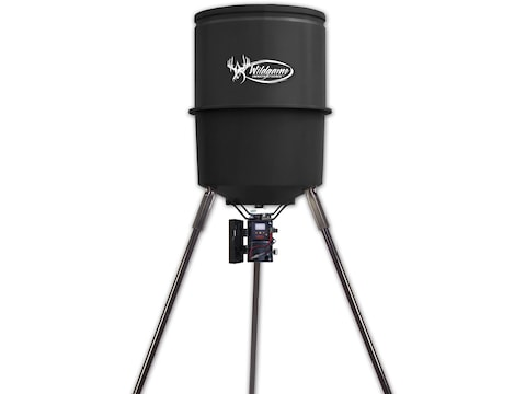 Wildgame Innovations Quick Set 225 Game Feeder 30 Gallon Black