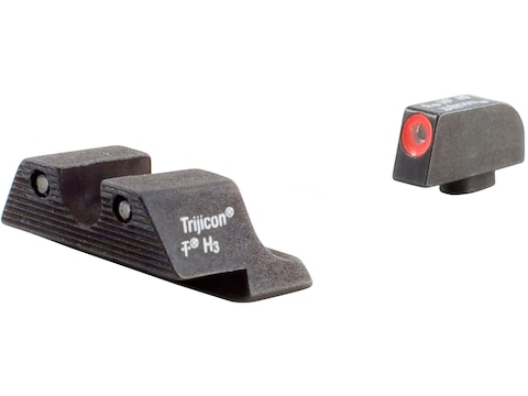 Trijicon HD Night Sight Set Glock 20, 21, 21SF, 29, 30, 36, 41 Steel Matte 3-Dot Tritiu...