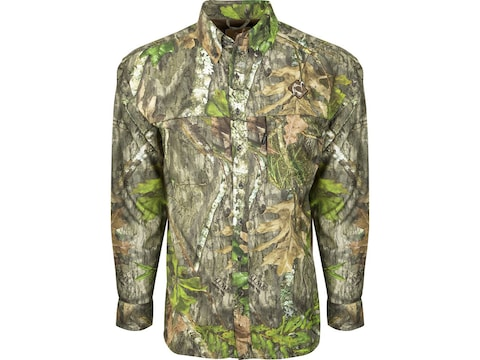 Ol' Tom Men's Mesh Back Flyweight Long Sleeve Shirt Polyester