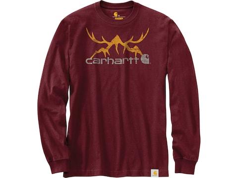 Carhartt Men's Original Fit Heavyweight Hunt Graphic Long Sleeve T-Shirt