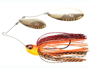 Megabass V9 Double Willow Spinnerbait 3/8oz Fire Shad Gold