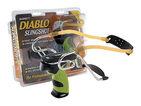 Barnett Diablo Slingshot Polymer Handle Green and Black