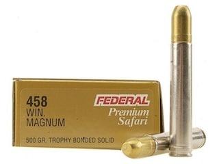 Federal Premium Safari Ammunition 458 Winchester Magnum 500 Grain Speer Trophy Bonded Sledgehammer Box of 20