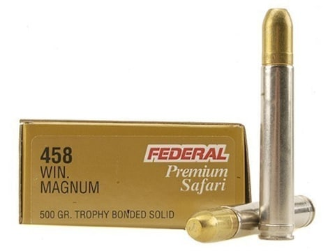 Federal Premium Safari Ammunition 458 Winchester Magnum 500 Grain Speer Trophy Bonded S...
