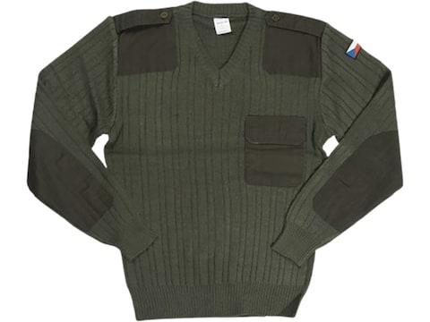 Military Surplus Czech M97 V-Neck Sweater Olive Drab