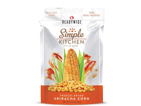 ReadyWise Simple Kitchen Sriracha Corn Freeze Dried Food