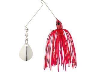 Strike King Micro-King Single Colorado Spinnerbait 1/16oz Red Head Red Skt Nickel