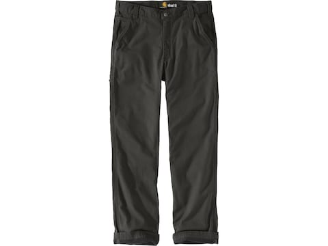 Carhartt Men's Rugged Flex Rigby Flannel Lined Dungaree Pants