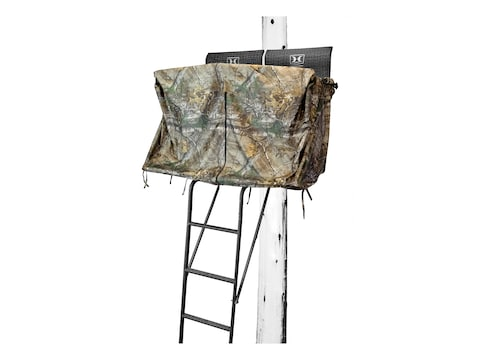 Hawk 2-Man Ladder Blind Kit Polyester Realtree Xtra