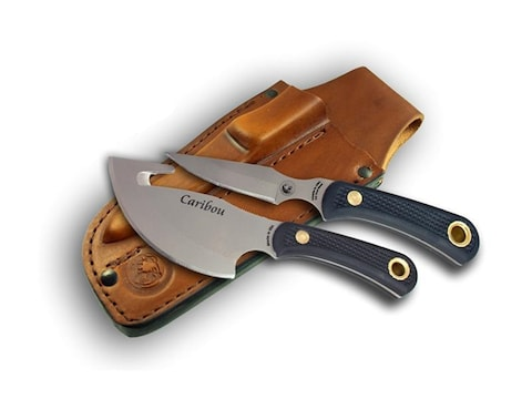 Knives of Alaska Caribou Combination Fixed Blade Knife Set D2 Stainless Steel Blade Sur...