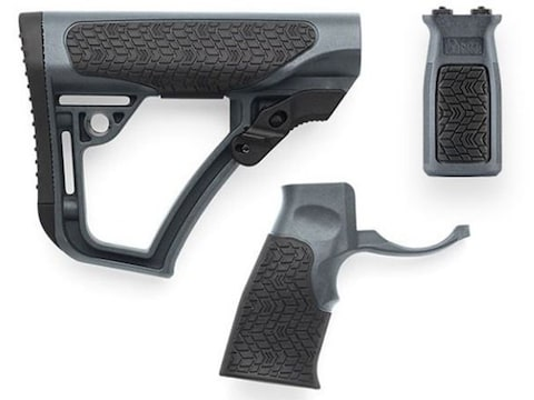 Daniel Defense Collapsible Stock, Pistol Grip, KeyMod Vertical Foregrip Combo Kit Mil-S...