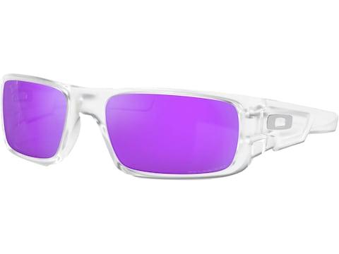 Oakley Crankshaft Polarized Sunglasses Matte Clear Frame/Violet Iridium Lens