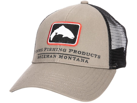Simms Men's Trout Icon Trucker Cap Tan One Size Fits Most