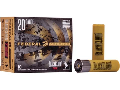 "Federal Premium Black Cloud TSS Ammunition 20 Gauge 3"" 1-1/4 oz #3 and #9 Non-Toxic Fli..."