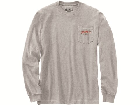 Carhartt Men's Loose Fit Heavyweight Trademark Graphic Long Sleeve T-Shirt