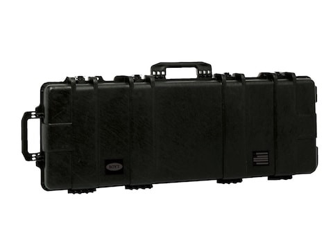"Boyt H51 Double Rifle Case with Solid Foam Insert and Wheels 53-1/2"" Polymer Black"