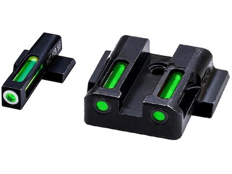 HIVIZ LiteWave H3 Night Sight Set S&W M&P Shield 3-Dot Tritium Green Litepipe with Whit...
