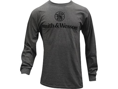 Smith & Wesson Men's Basic Logo Long Sleeve T-Shirt Cotton