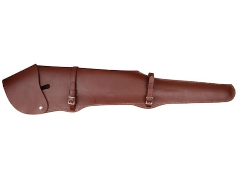 """Hunter Scoped 26"""" Rifle Scabbard Leather Brown"""