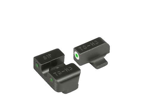 TRUGLO Tritium Pro Sight Set Sig Sauer #8/#8 Tritium Green with White Front Outline