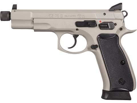 "CZ-USA CZ 75-B Omega Pistol 9mm Luger 5.21"" Barrel Threaded Night Sights 18-Round Gray ..."