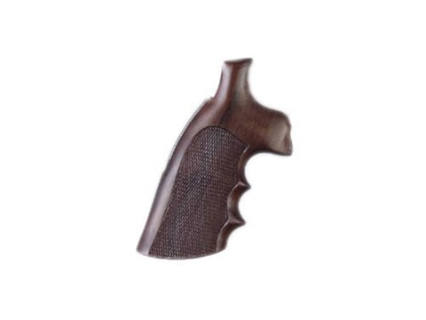 Hogue Fancy Hardwood Conversion Grips with Finger Grooves S&W N-Frame Round to Square B...